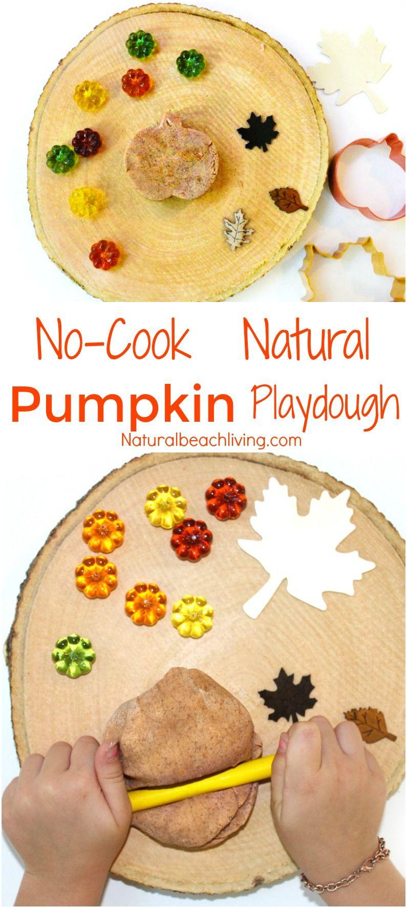 How to Make The Best Natural NoCook Pumpkin Playdough