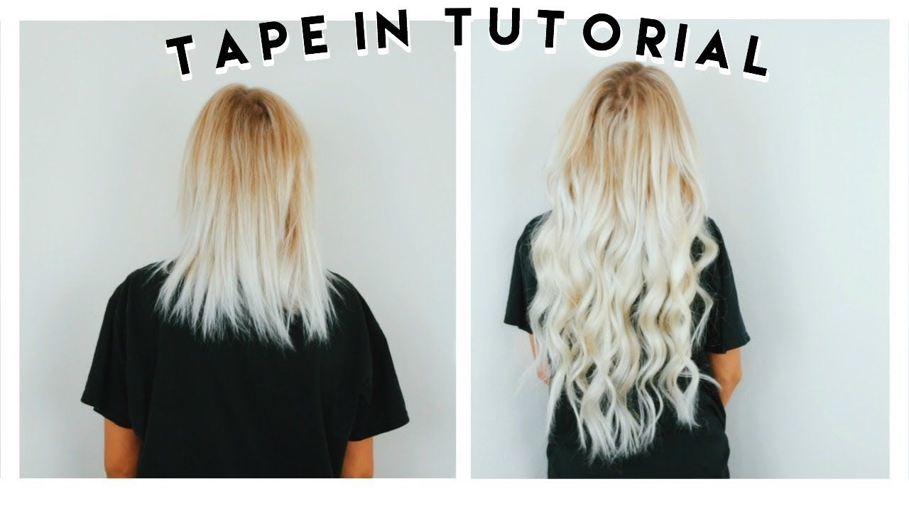How To Apply Tape In Hair Extensions At Home Ft Vp Fashion Tape In Hair Extensions Hair Extensions For Short Hair Hair Tape