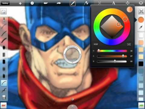 How to Paint Comic Books with the iPad...