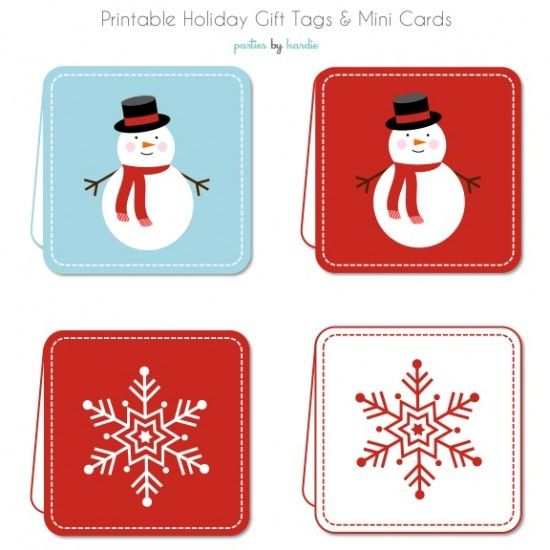 printable holiday gift tags and mini cards---- just what I need - free printable holiday gift certificates