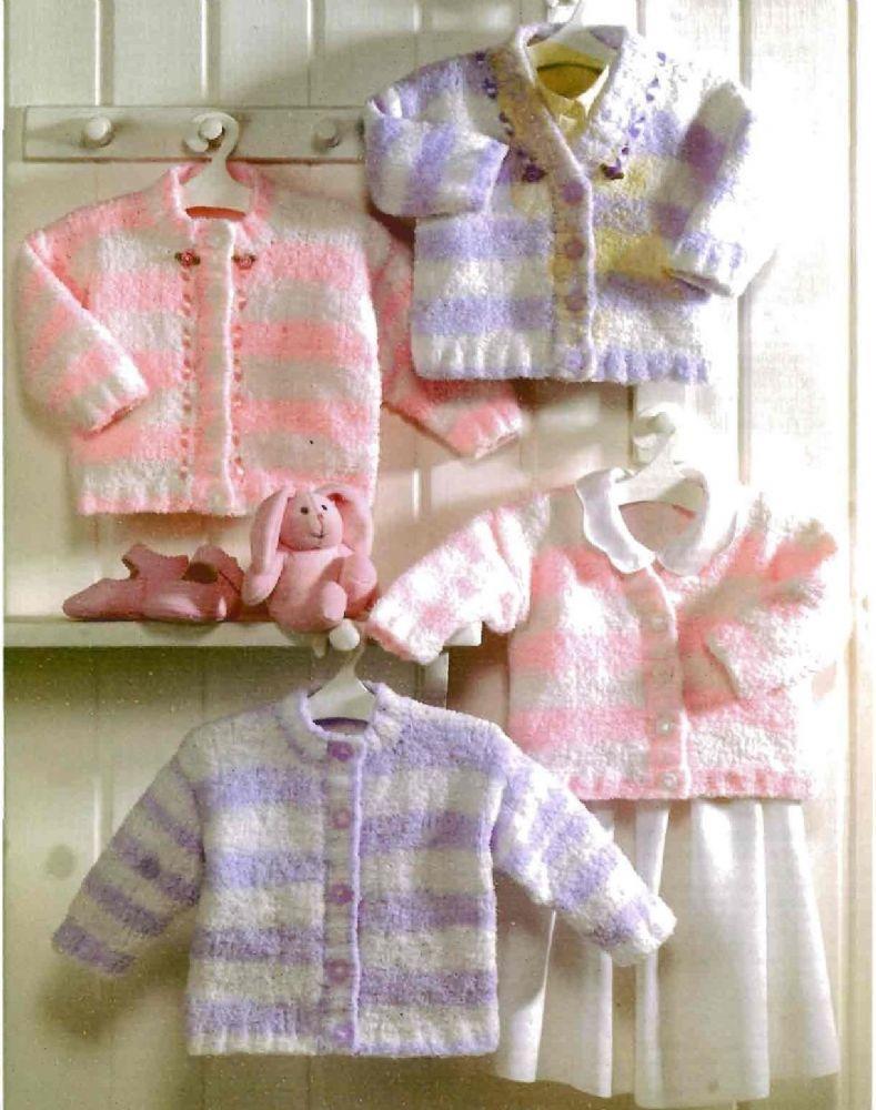 PDF Digital Vintage Knitting Pattern Baby Childrens Round V Neck ...