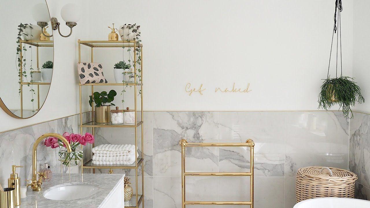 Marble & Gold Bathroom Reveal | Bathroom ideas | Pinterest | Gold ...