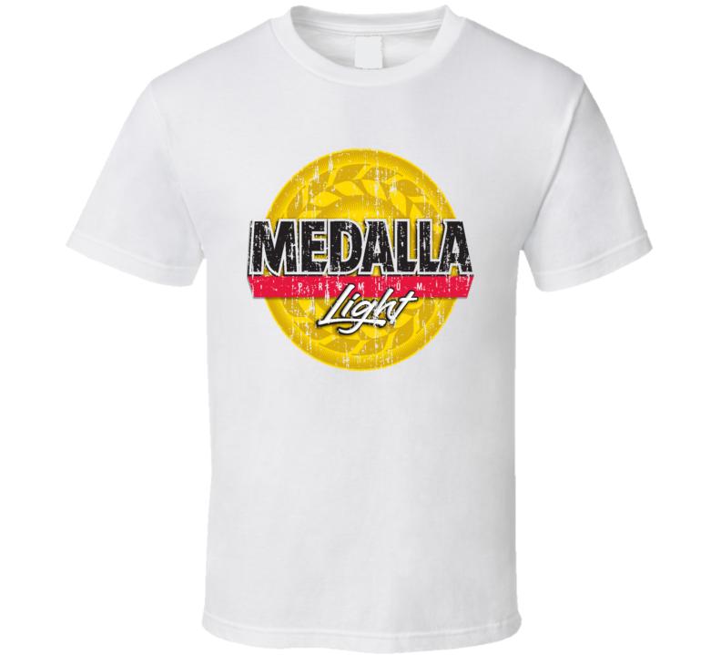 bbdee8a5 Medalla Light Puerto Rico Latin American Beer Drink Worn Look T Shirt