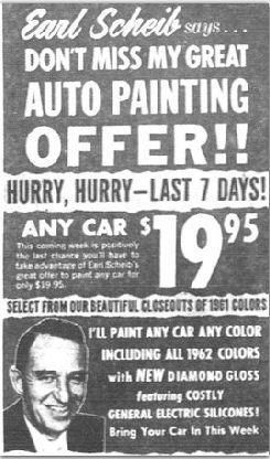 Earl Scheib The 19 95 Car Paint Job Paint Shops Car Painting Car Paint Jobs