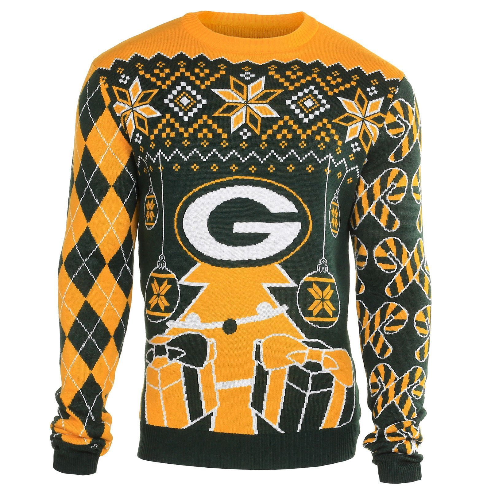 Green Bay Packers Christmas Ornaments Ugly Sweater Products