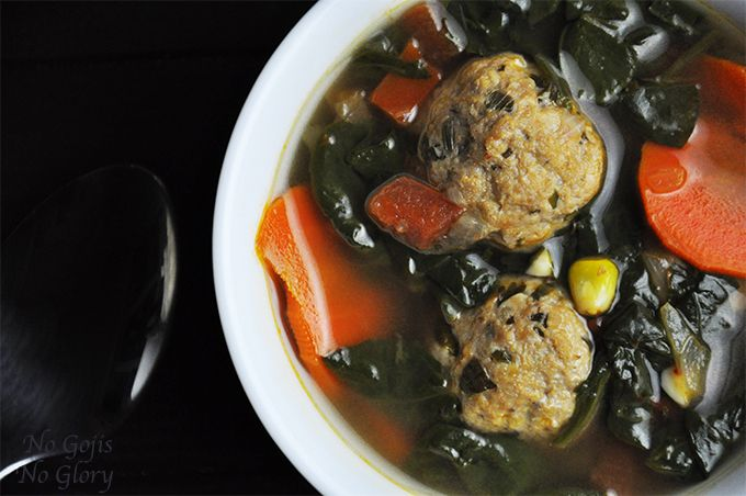Savory Albondigas (Meatball) Soup | A healthy yet flavorful Mexican soup. A perfect dinner or lunch for those chilly Fall & Winter days | No Gojis No Glory