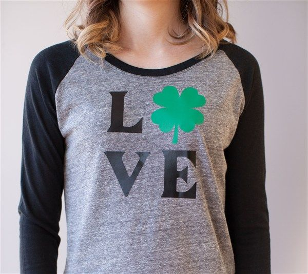 This Love St. Patrick's Day Shirt is perfect to wear for the holiday! Make it now with your Cricut Explore Machine in Cricut Design Space.
