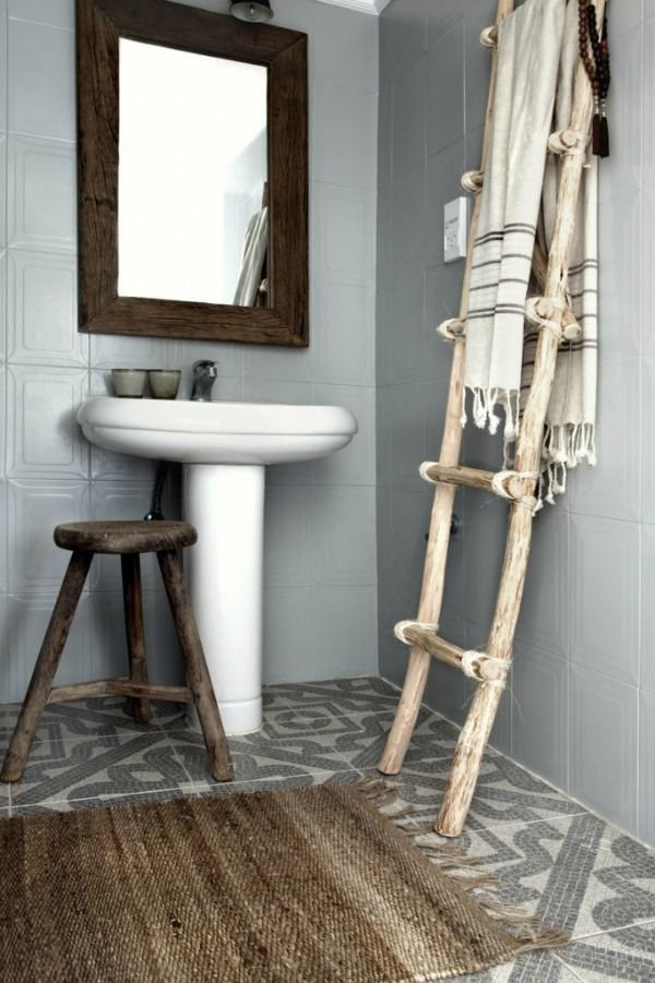 houten-ladder-badkamer - Bathroom | Pinterest - Houten ladder ...