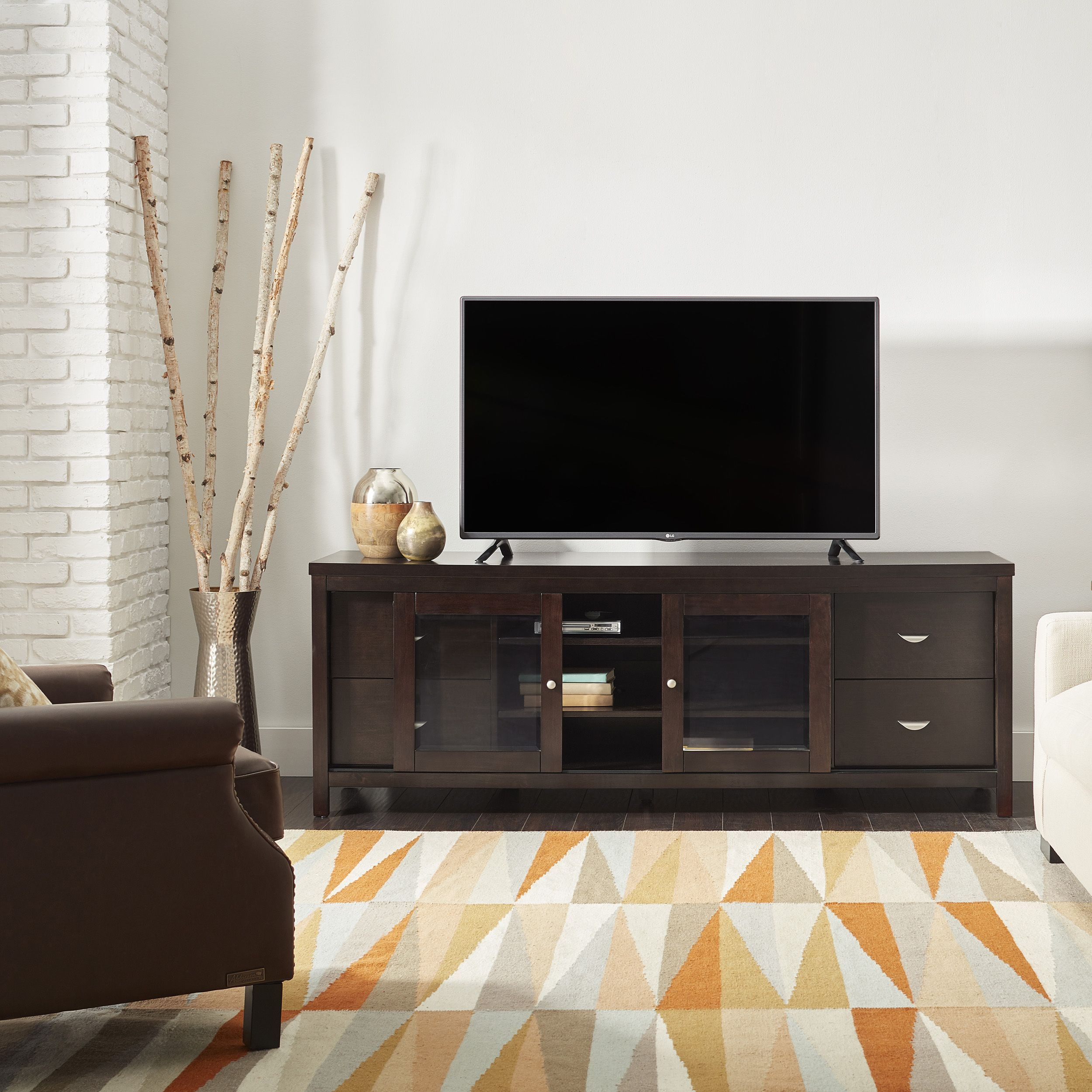 Abbyson living clarkston solid wood inch tv console products