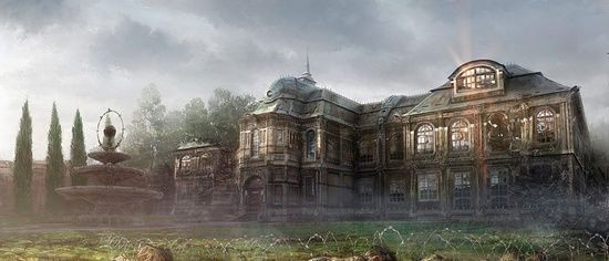 The England mansion-not as creepy, but just as empty and depressing.
