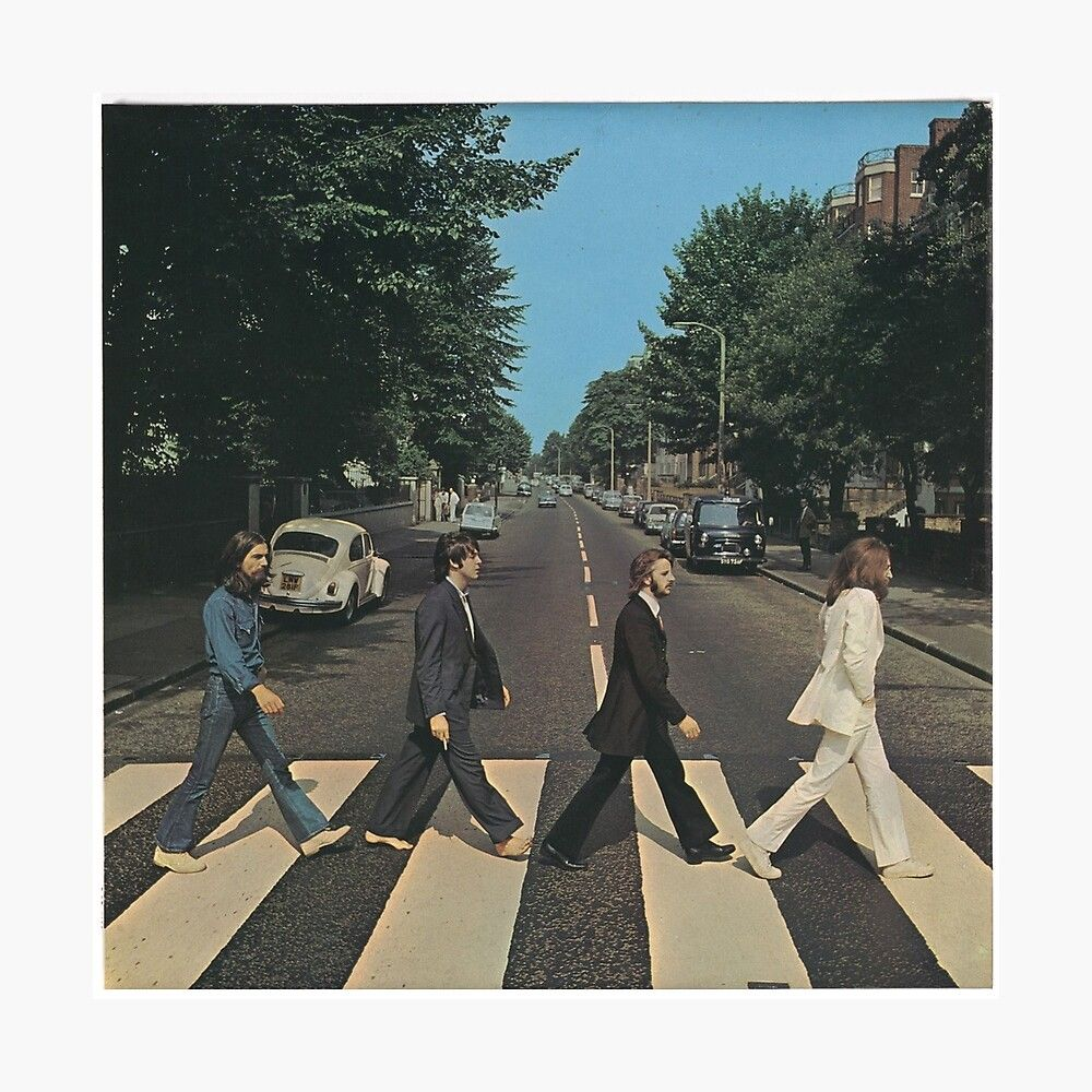 Abbey Road By The Beetles Cover Poster By Tom280 In 2021 Beatles Abbey Road Abbey Road Square Canvas