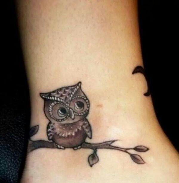 بومة Ankle Tattoos For Women Ankle Tattoo Designs Ankle Tattoos