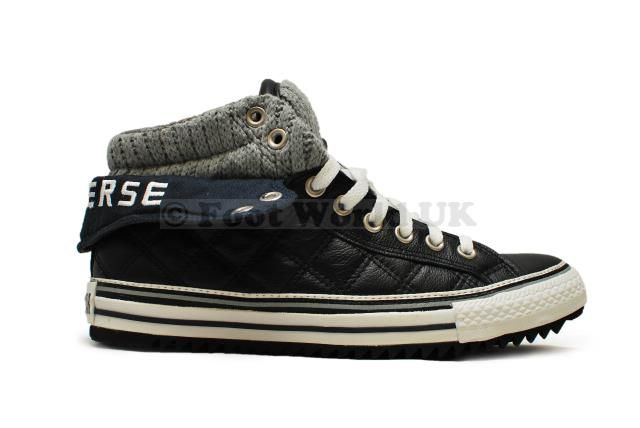 070e534bf6a84d Unisex Converse Padded Collar 2 Mid - 136055C - Black Grey