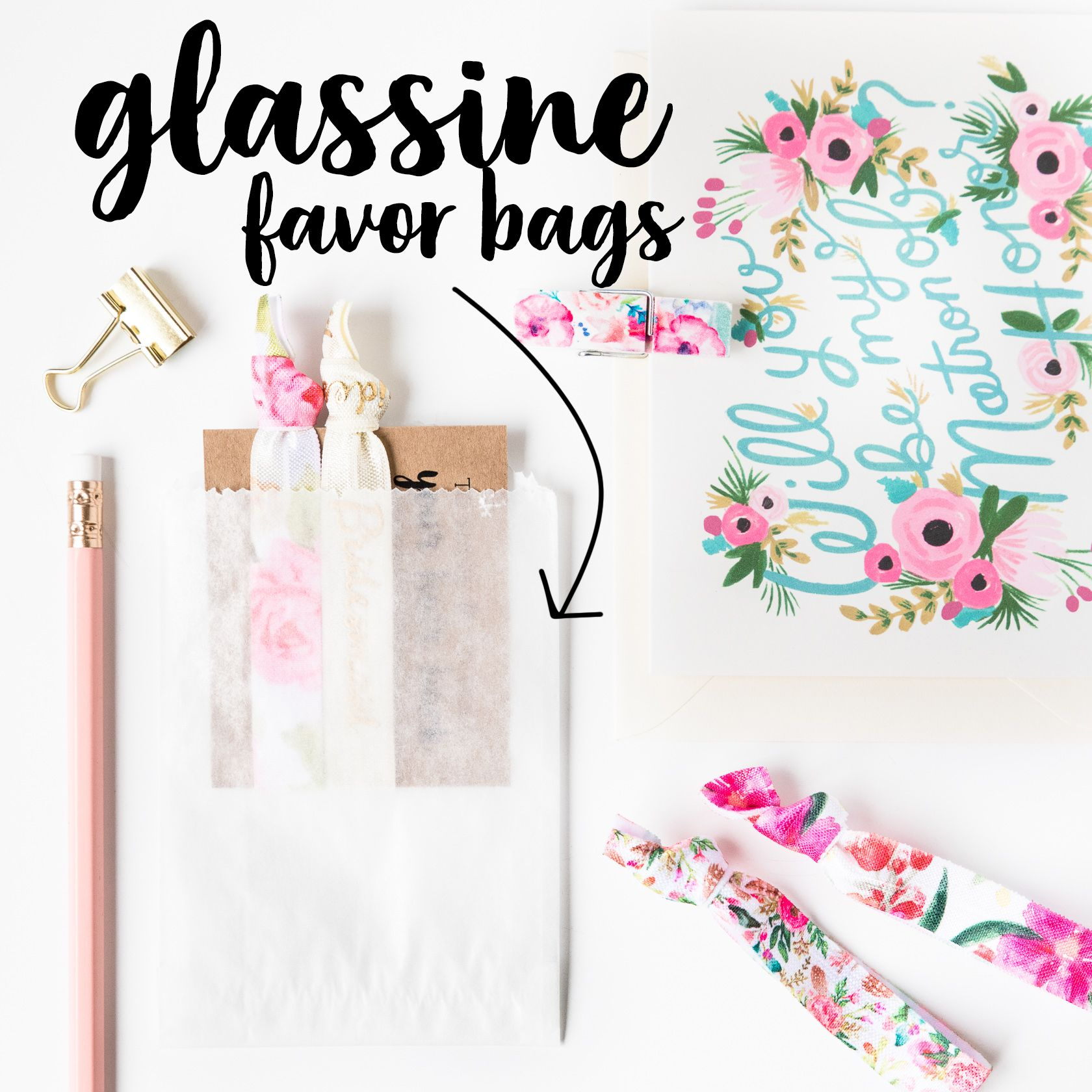 Glassine Favor Bags | Gift Packaging for Hair Tie Favors, Wedding ...