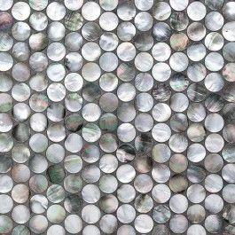 Deep Sea Black Pearl Penny Round Tile Backsplash Tile