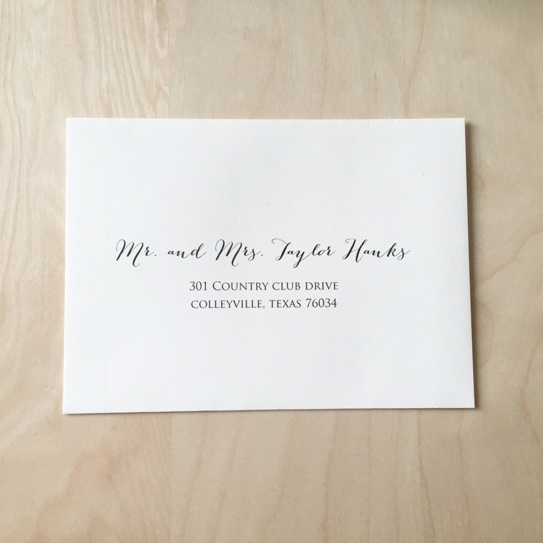 30 Address Etiquette Invitation Return Wedding Addressing