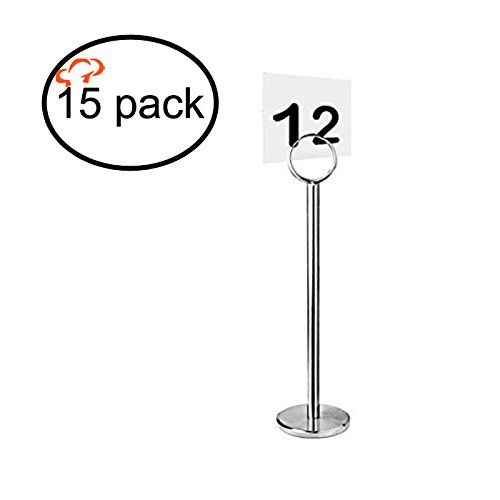 "Tiger Chef Table Number Holder Table Card Holder Table Number Stand Place Card Holder Menu Holder 12"" (15)"