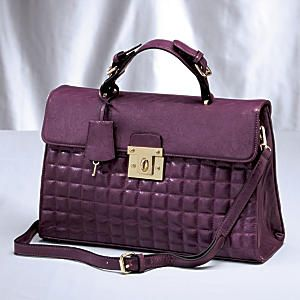Quilted Turn Lock Bag from Midnight Velvet. | Handbags Define Your ... : define quilted - Adamdwight.com