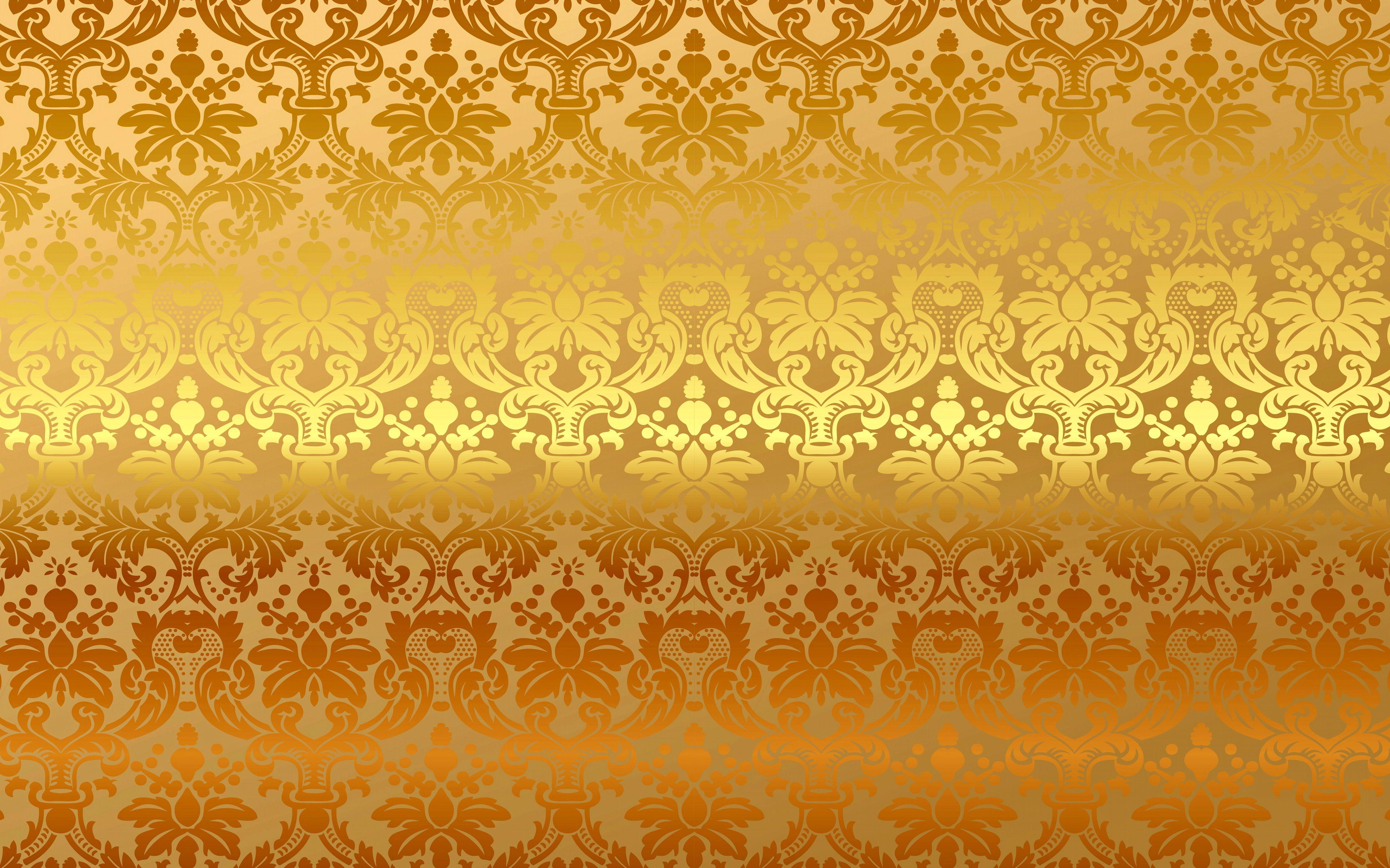 Download Wallpaper Pattern Vintage Background Vector Gold Background Gradient Ornament Pattern Floral Wallpaper Golden Wallpaper Vintage Gold Wallpaper