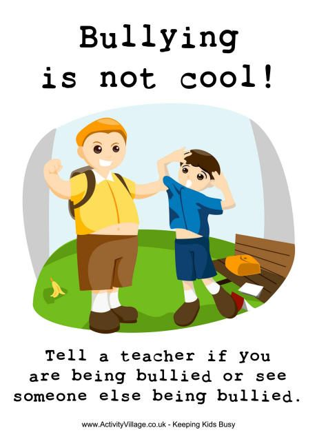 Bullying Is Not Cool Poster Sekolah Poster