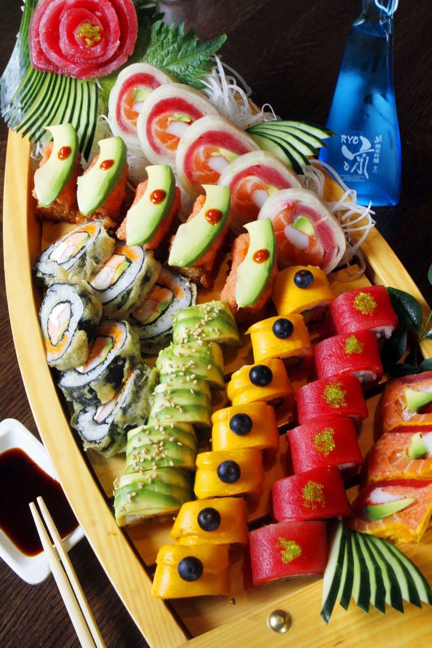 A Boat Load Of Sushi At Sushi Garden, 3048 E. Broadway.