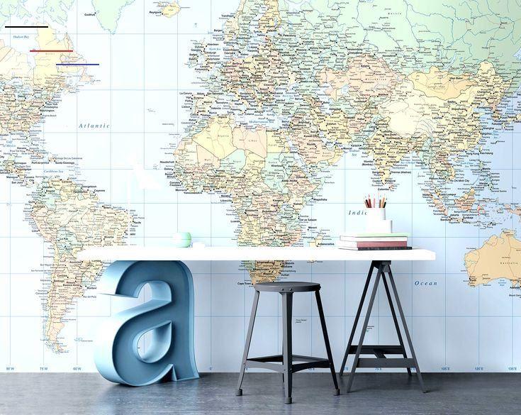 Back to school Find fun, educational and inspiring wall murals for your kids room. #worldmap #map #wallmural #wallpaper #room #interiordecor #tapet #behang #karta #kidsroom #barnrum<br>