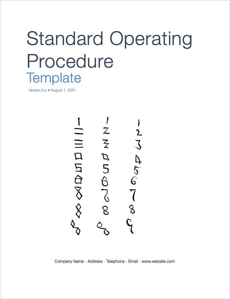 StandardOperatingProcedureTemplateCoverpage  Sop