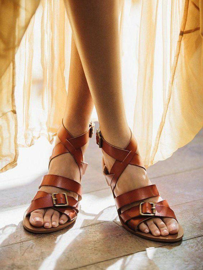 mode prix raisonnable marque populaire Les dernières tendances chez les sandales plates!   Shoes ...