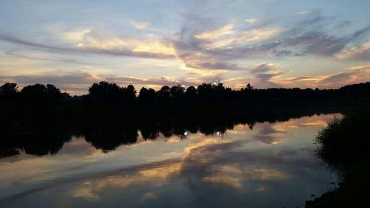 Sunset at Mason County Recreation Park. Washington, Kentucky.