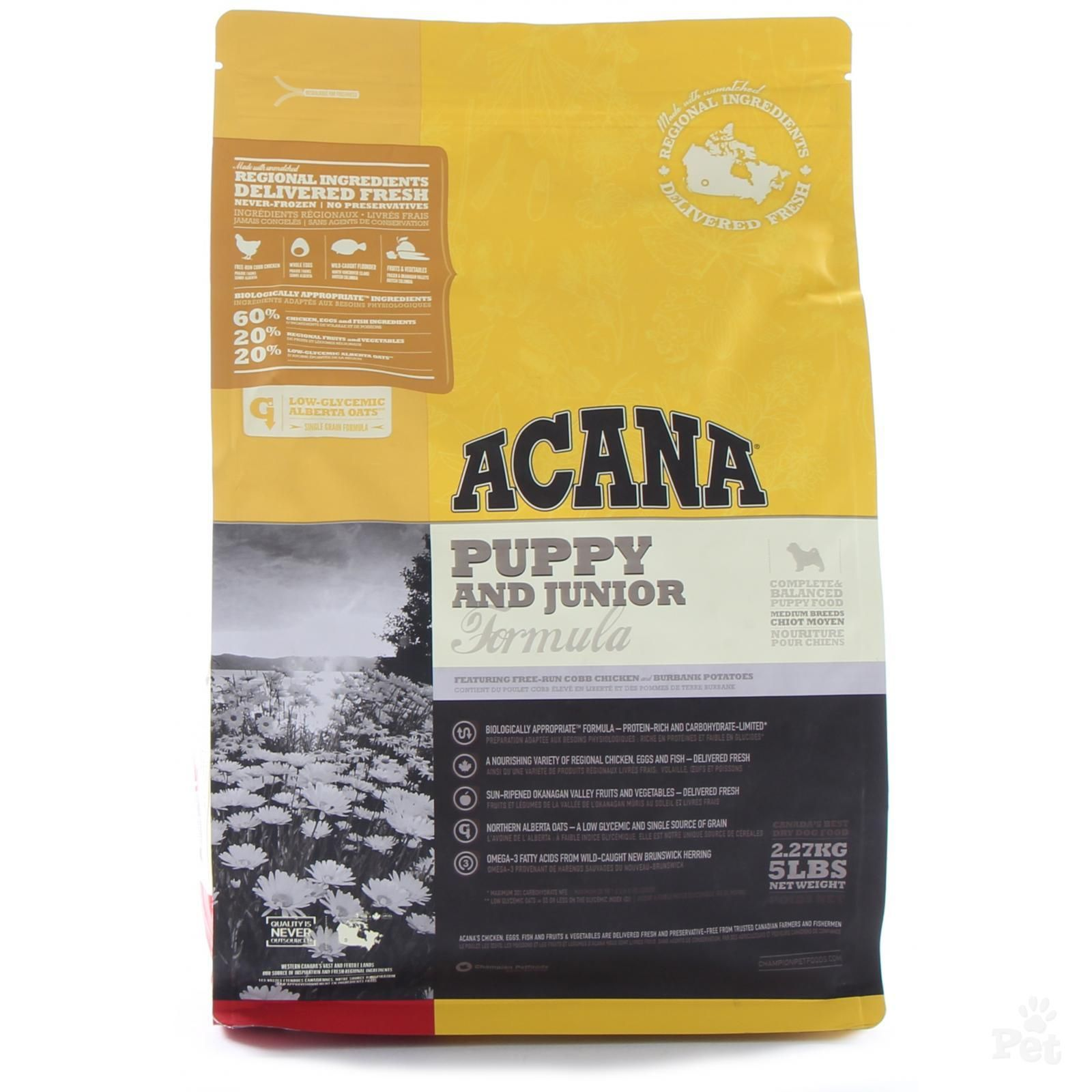 Acana Puppy Junior Dog Food Dog Food Recipes Acana Dog Food Food