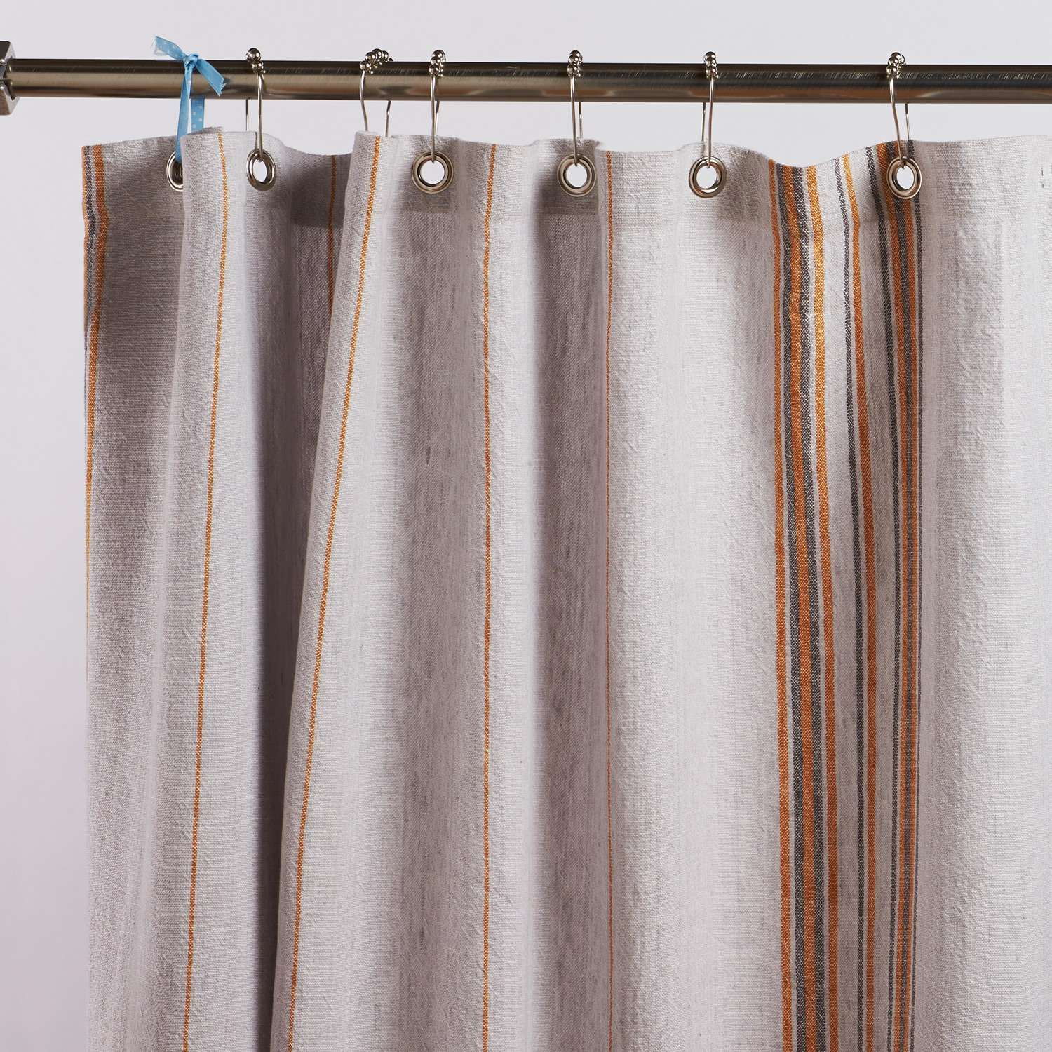 Rustic Linen Shower Curtain Curtains Curtain Rods Long Shower