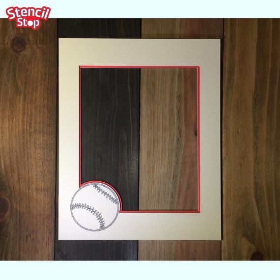 Baseball Picture Frame Mat // Personalized Frame Mat // Photo Mat ...