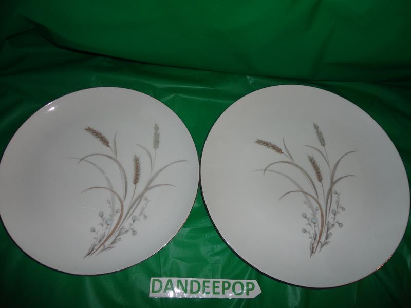 2 Mikasa Fine China Dinner Plates Sentinel Wheat Flower Pattern ...