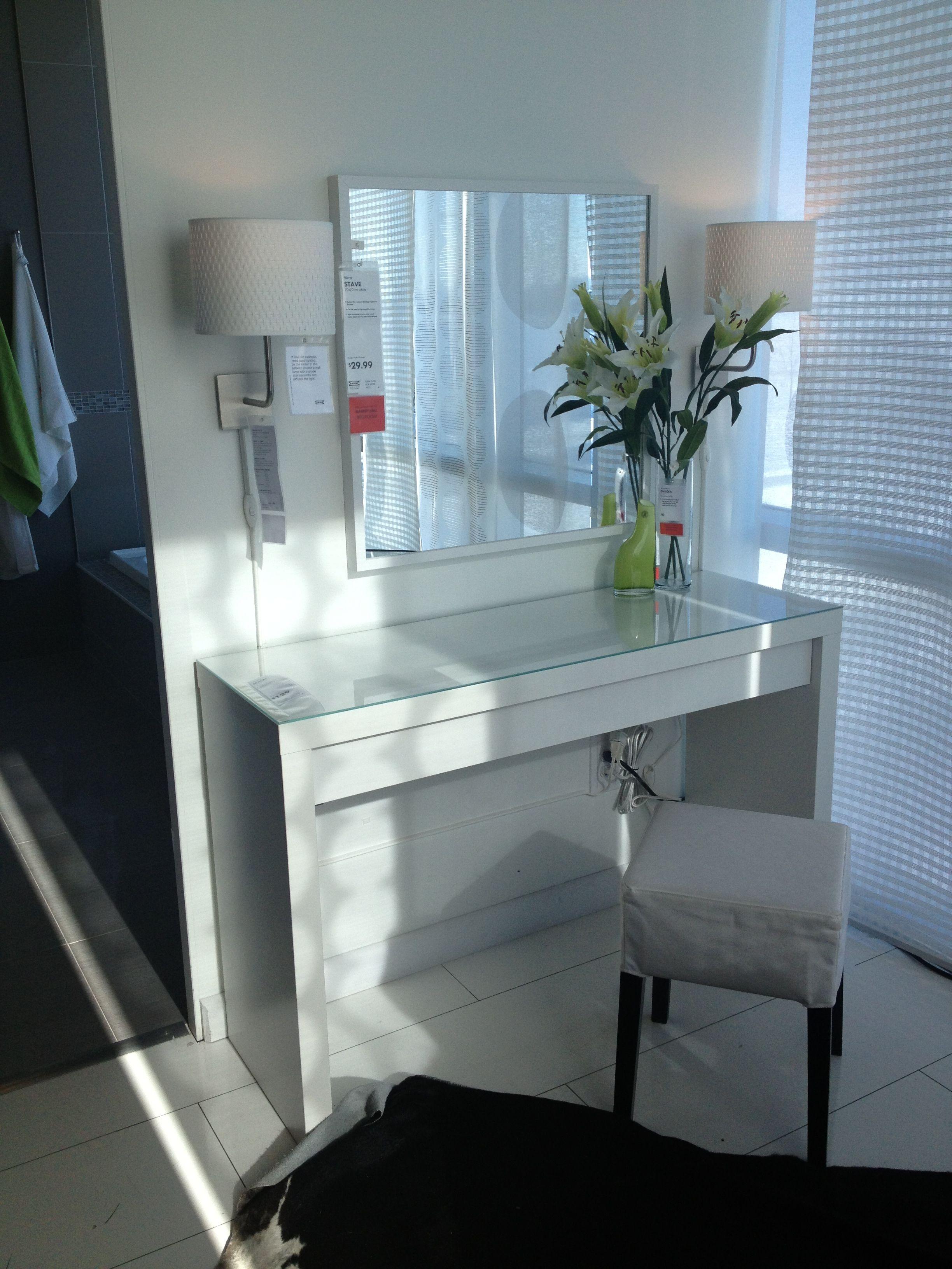 Malm Vanity Table Ikea Bedroom Decor