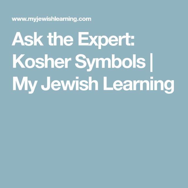 Ask The Expert Kosher Symbols My Jewish Learning Kashrut