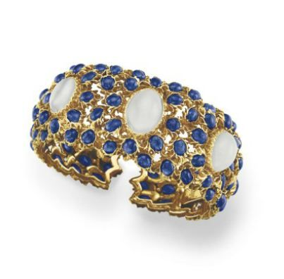 A MOONSTONE AND SAPPHIRE BRACELET, BY BUCCELLATI