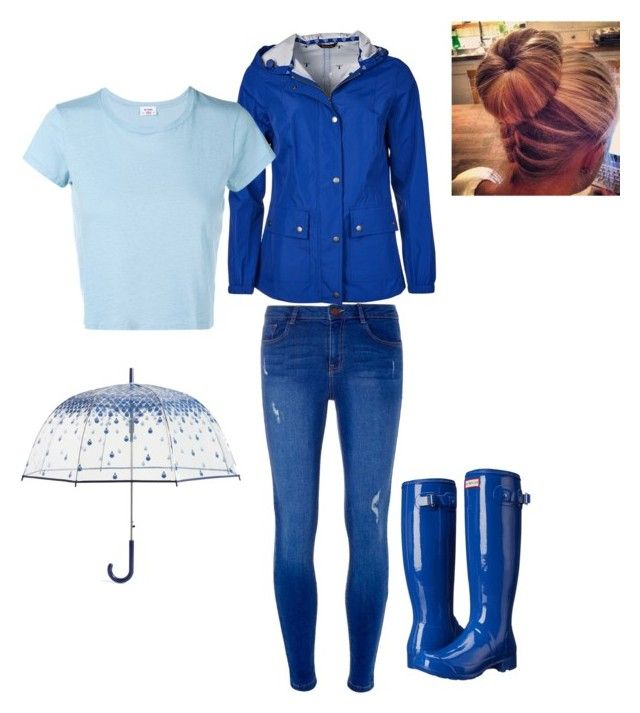 """""""Under my umbrella ☔️"""" by amilagarcia12 on Polyvore featuring Dorothy Perkins, Barbour, Hunter, Vera Bradley and RE/DONE"""
