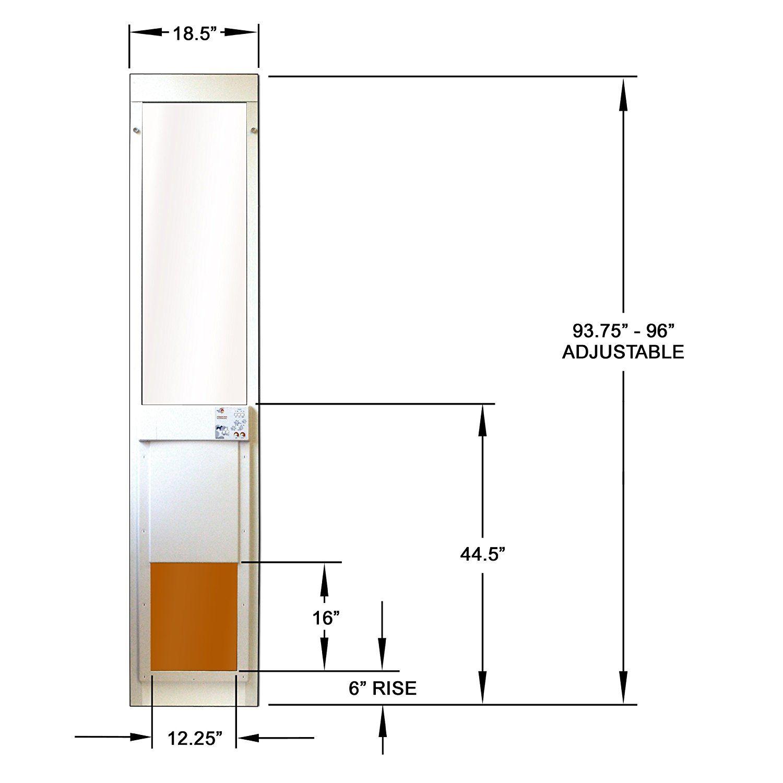 Large Power Pet Sliding Glass Dog Door Extra Tall Turns Any Sliding