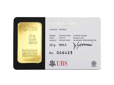 20 Gram Ubs Gold Kinebar Gold Bullion Bars Buy Gold And Silver Gold Bullion