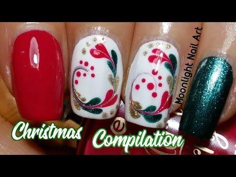 Christmas Compilation 2 Drag Marble Christmas Nail Designs