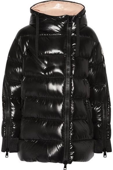 Moncler Liriope quilted glossed shell down hooded jacket