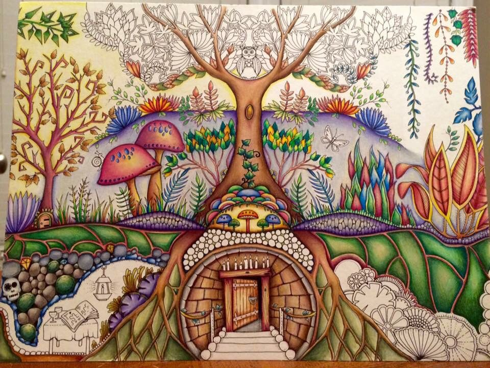 Underground Burrow Enchanted Forest Enchanted Forest Coloring, Enchanted  Forest Coloring Book, Johanna Basford Enchanted Forest