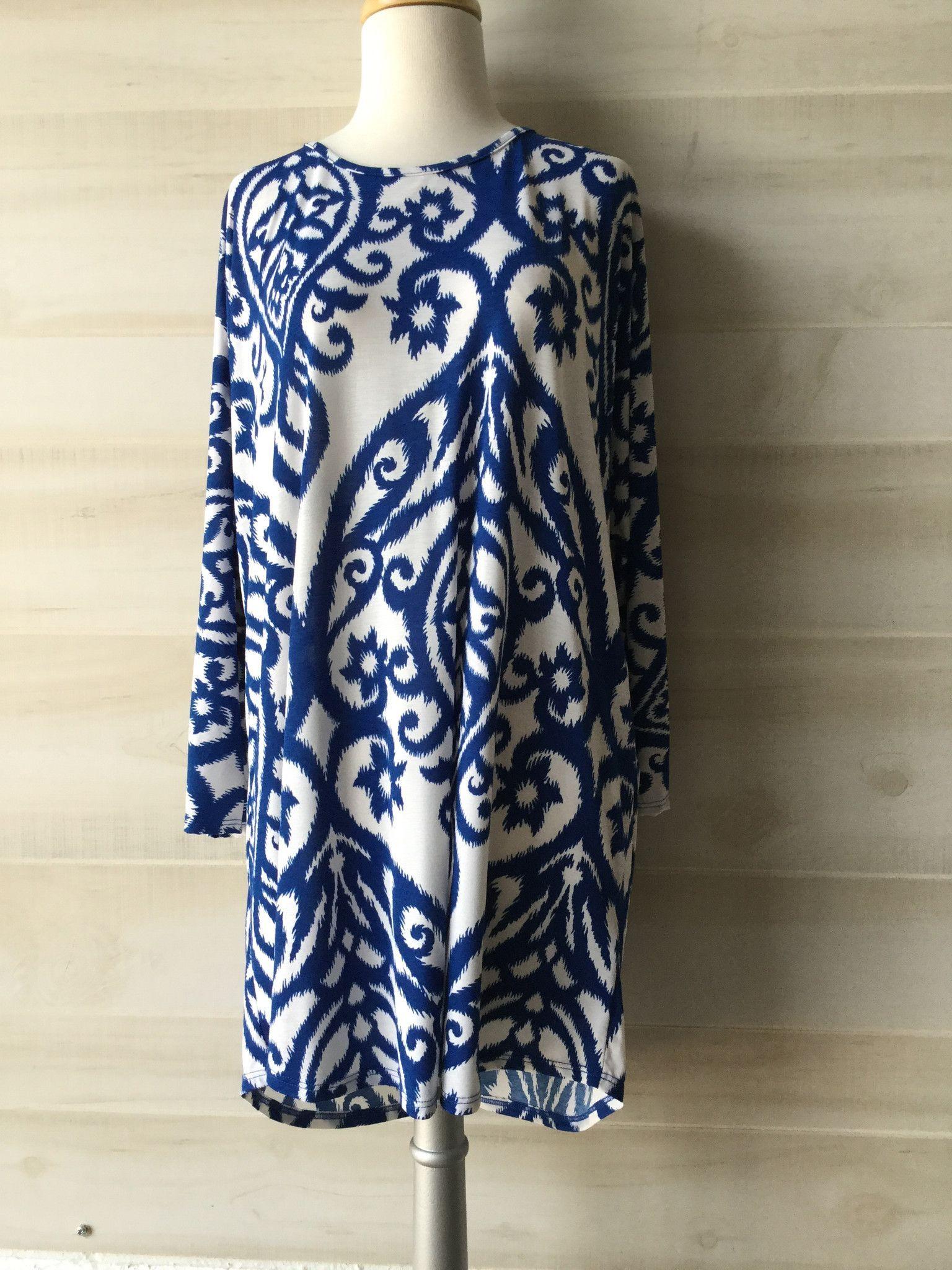 Royal & White Oversized Silk Shirt