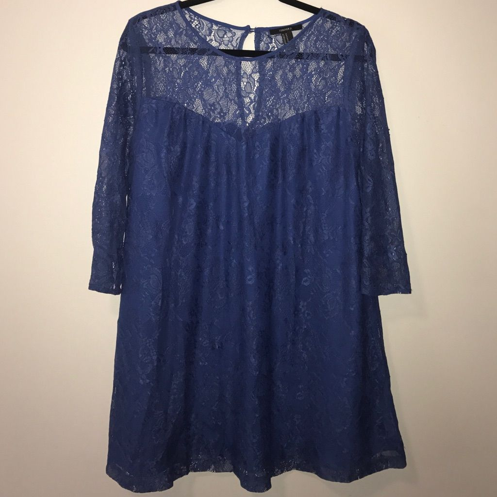 Lace dress royal blue  Forever  Lace Shift Dress  Products  Pinterest  Products