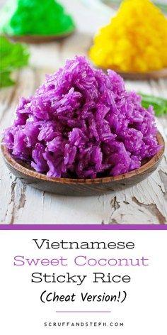 My Cheat Vietnamese Sweet Coconut Sticky Rice - Xoi Nuoc Dua - Scruff & Steph