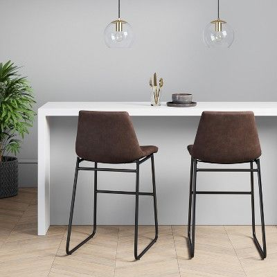 Astounding Bowden Faux Leather And Metal Counter Stool With Black Legs Lamtechconsult Wood Chair Design Ideas Lamtechconsultcom
