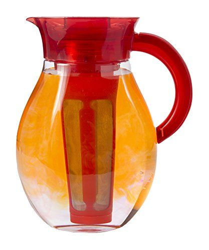 Primula Iced Tea Brewer Spacious And Innovative Infusion Chamber 100 Bpa Pvc Phthalate And Lead Free For Hot Or Iced Tea And Other Beverages 3 78 Li