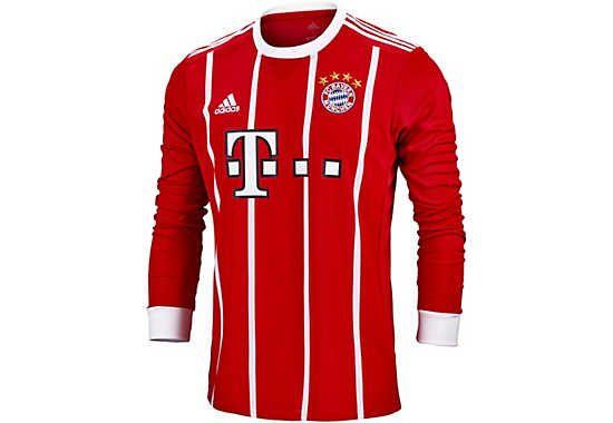 b2f625121 Buy the long sleeve 2017 18 adidas FC Bayern Home Jersey at SoccerPro today.