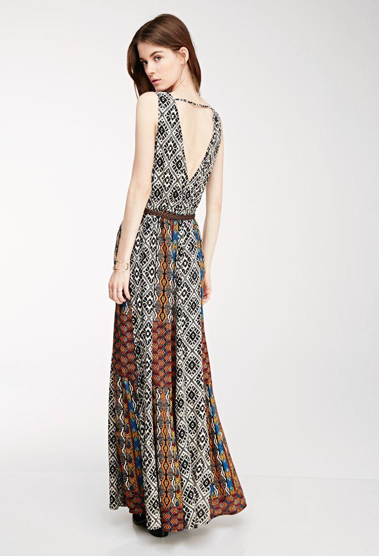 Mixed print maxi dress forever wardrobe ideas