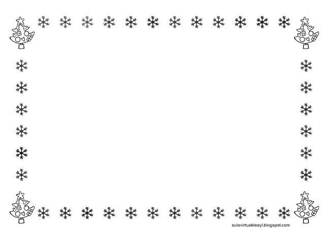 Decorar Folio Blanco Y Negro Navidad